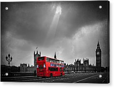 Red Bus Acrylic Print