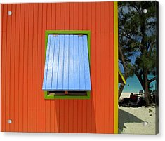 Red Cabin Acrylic Print by Randall Weidner