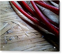 Red Cable Acrylic Print by Jaime Neo