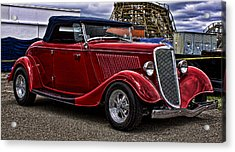 Red Cabrolet Acrylic Print by Ron Roberts