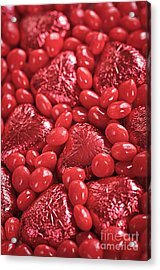 Red Candy Acrylic Print by Elena Elisseeva