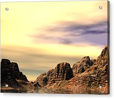 Acrylic Print featuring the digital art Red Canyon Cove by John Pangia