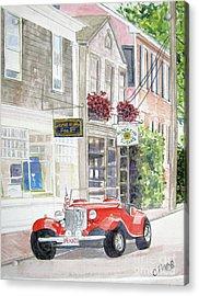 Red Car Acrylic Print by Carol Flagg