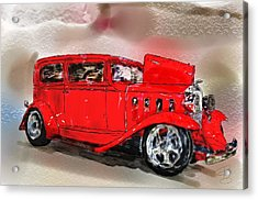 Red Car Acrylic Print