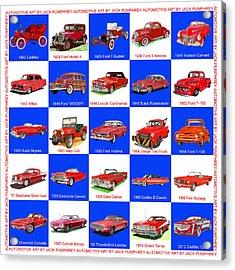 Red Cars Of America Acrylic Print by Jack Pumphrey