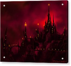 Red Castle Acrylic Print
