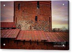 Red Castle Walls Acrylic Print by Jolanta Meskauskiene