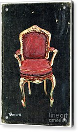 Red Chair Acrylic Print by Cathy Peterson