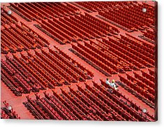 Red Chairs Acrylic Print by Dobromir Dobrinov