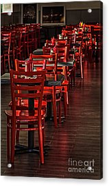 Red Chairs Acrylic Print by Vicki DeVico