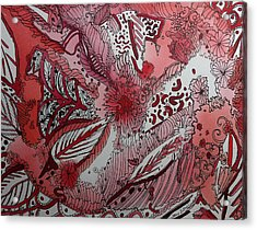 Red Chakra Acrylic Print