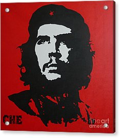 Red Che Acrylic Print by ID Goodall
