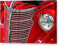 Red Chevrolet  Acrylic Print by Allen Carroll