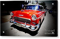Red Chevrolet Bel Air Acrylic Print by Nina Prommer