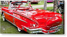 Acrylic Print featuring the photograph Red Chevrolet Classic by Mick Flynn