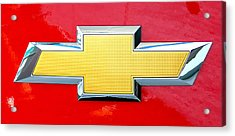Red Chevy Bowtie Acrylic Print