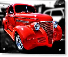 Red Chevy Hot Rod Acrylic Print