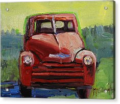 Red Chevy Acrylic Print by Susan McCullough