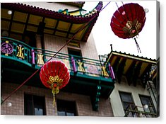 Red Chinese Lanterns Acrylic Print by SFPhotoStore