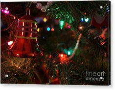 Red Christmas Bell Acrylic Print
