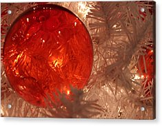 Acrylic Print featuring the photograph Red Christmas Ornament by Lynn Sprowl