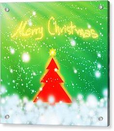 Red Christmas Tree Acrylic Print by Atiketta Sangasaeng
