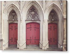 Red Church Doors Acrylic Print
