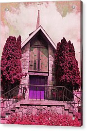 Acrylic Print featuring the photograph Red Church by Laurie Tsemak
