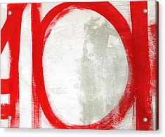 Red Circle 3- Abstract Painting Acrylic Print