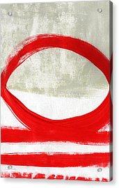 Red Circle 4- Abstract Painting Acrylic Print