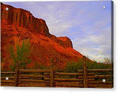 Red Cliffs Near Moab Ut Acrylic Print by Jerry Cahill