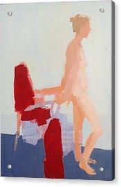 Red Cloth Acrylic Print by Cynthia Harvey