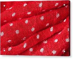 Red Cloth Acrylic Print by Tom Gowanlock