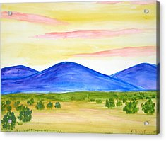 Red Clouds Over Mountains Acrylic Print