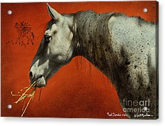 Red Clouds Ride... Acrylic Print by Will Bullas