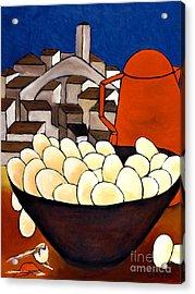 Red Coffee Pot Acrylic Print