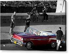Red Convertible II Acrylic Print