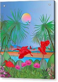 Red Corocoro -  Acrylic Print