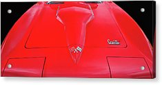 Acrylic Print featuring the photograph Red Corvette by Dave Mills