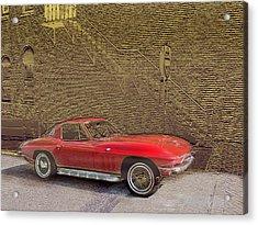 Red Corvette Acrylic Print