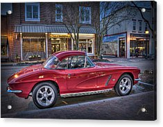 Red Corvette Acrylic Print