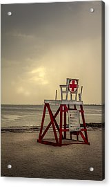 Red Cross Lifeguard Acrylic Print by Marvin Spates