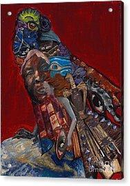 Red Crow Acrylic Print