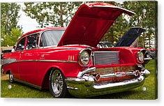 Acrylic Print featuring the photograph Red Customised Car by Mick Flynn