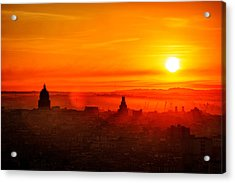 Red Dawn In Havana Acrylic Print