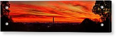Red Dawn Acrylic Print by Metro DC Photography