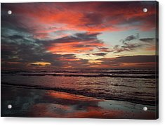 Acrylic Print featuring the photograph Red Dawn by Sharon Jones