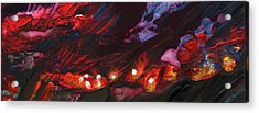 Red Demon With Pearls Acrylic Print by Miki De Goodaboom