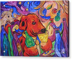 Red Dirk Dog And Rita Drink Acrylic Print