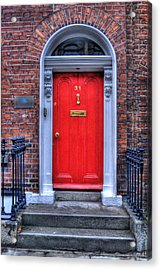 Red Door Dublin Ireland Acrylic Print by Juli Scalzi